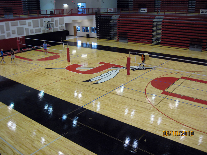 High school gym floors photo gallery aacer sports flooring for Basketball gym designs and layout
